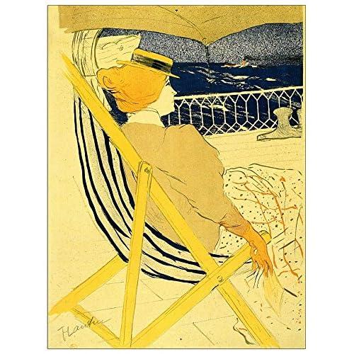 ArtPlaza Toulouse-Lautrec-the Traveller Panneau Décoratif, Bois, Multicolore, 90 x 1,8 x 120 cm