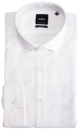 Strellson Herren Hemd 'Alice' Weiß Extra Slim:
