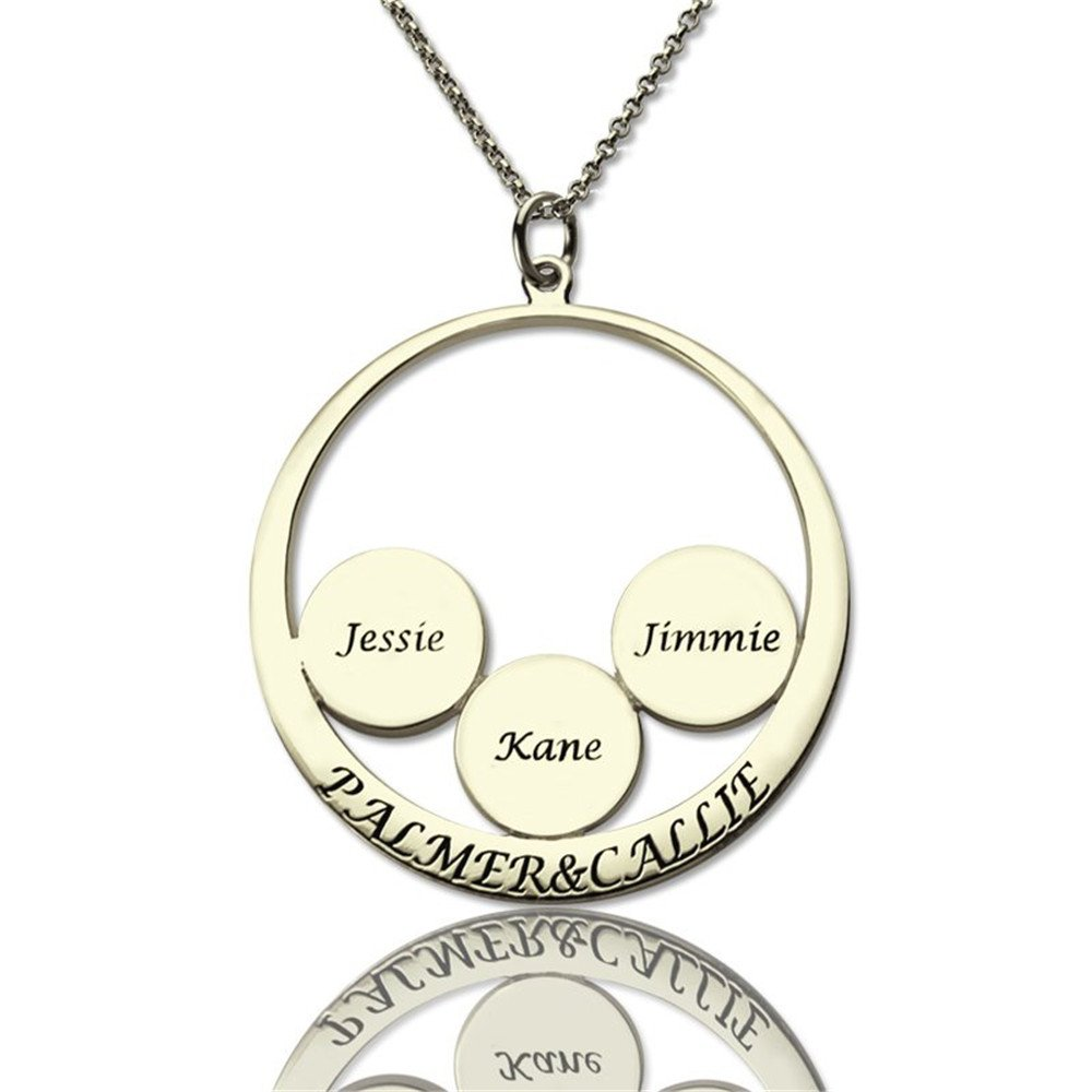 Gifts Custom Family Name Pendants Custom Discs /& Rings Custom Names Necklaces