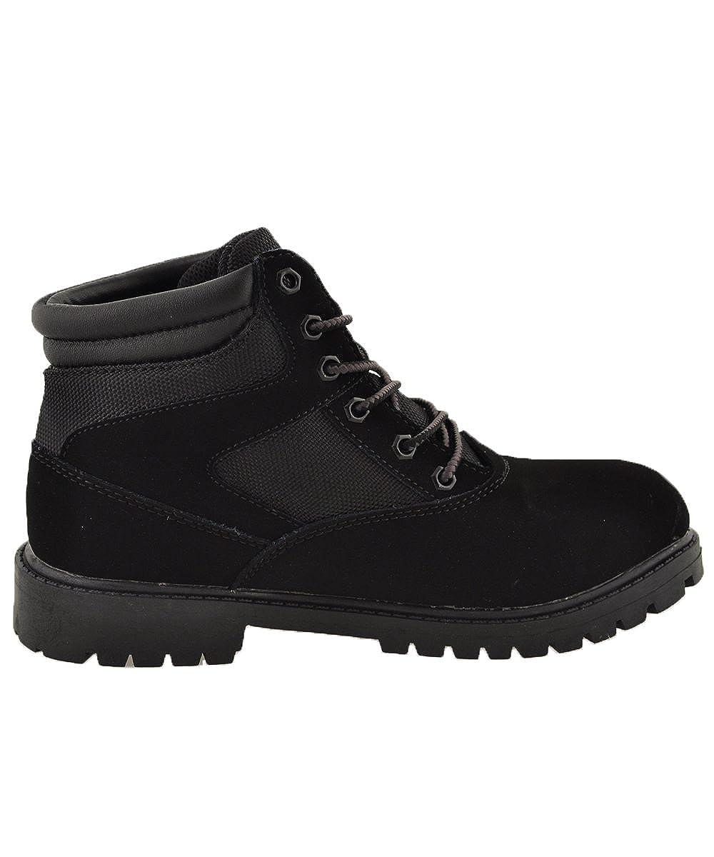 Big Kid Mountain Gear-Boys Moorland Hi Boots ,Black,5