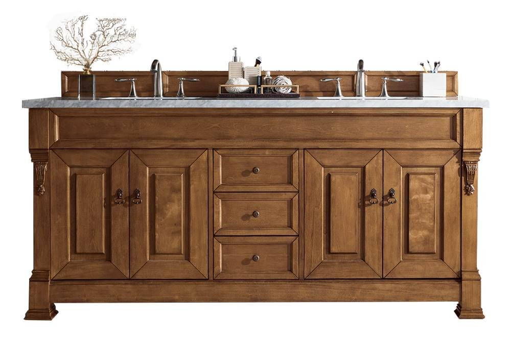 72 in. Double Cabinet in Country Oak Finish