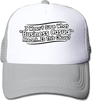 WestWell Wasnt Sure What Business Casual Meantis This Okay Mesh Hat Unisex Trucker Caps Sun Mesh Back Cap Hat Comfortable