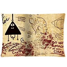Custom Cartoon Gravity Falls Bill Cipher Map Pillowcase Rectangle Zippered Two Sides Design Printed 20x26 pillows Throw Pillow Cover Cushion Case Covers
