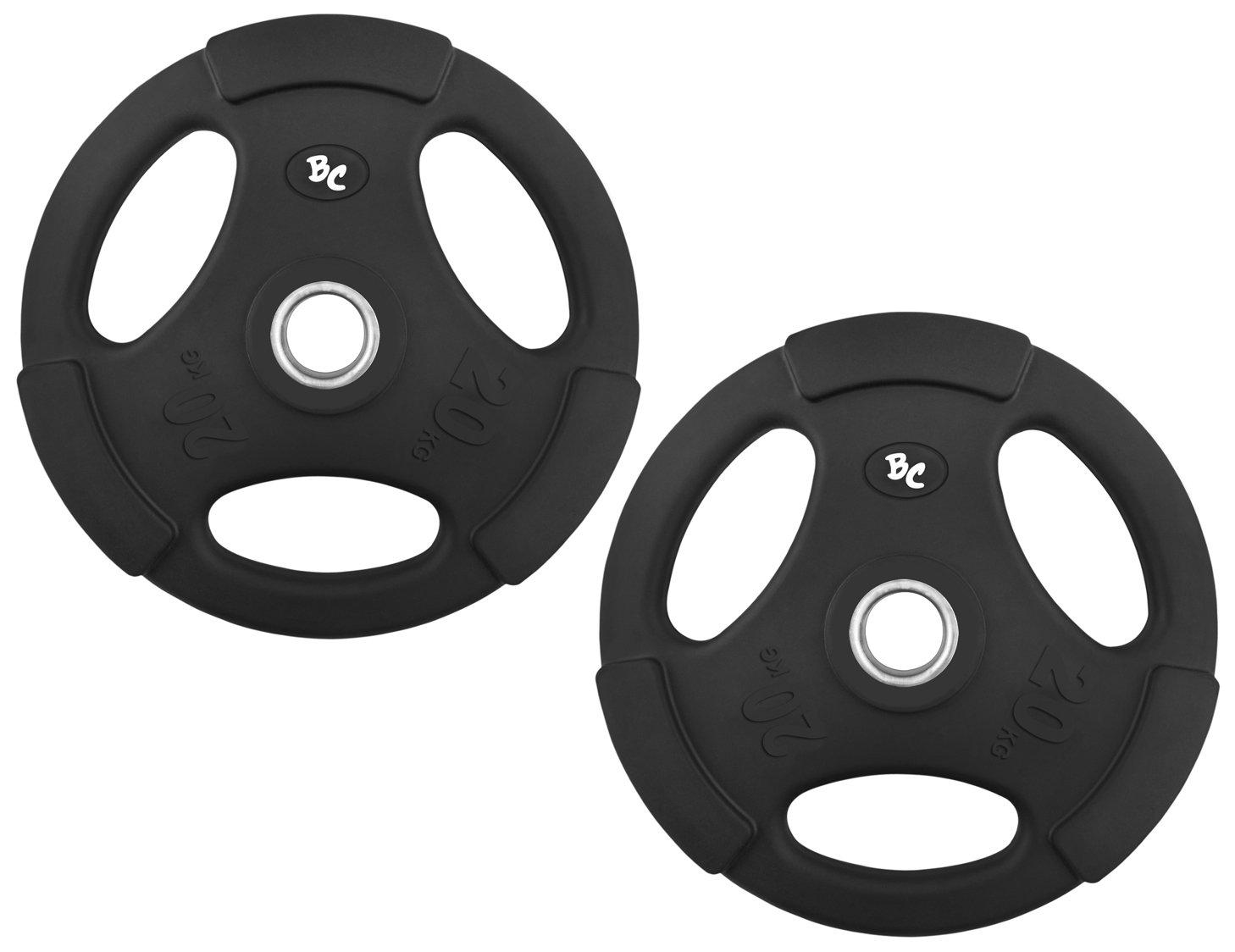Gummi-Gripper 40,0Kg (2x20,0) Hantelscheiben Hantel Gewichte Hanteln 30 31mm