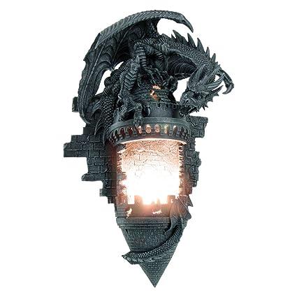 hot sale online e506f 7c376 Nemesis Now - Gothic Black Dragon Dominion Wall Lighting ...