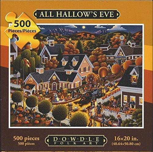 Dowdle Folk Art 500 Piece Puzzle All Hallow's Eve 16