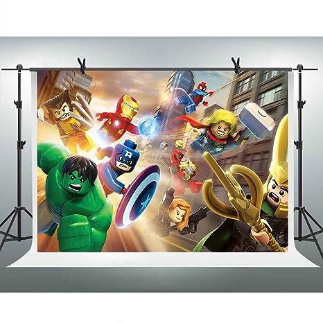 FHZON PFH420 10 x 7 pies Lego Marvel Super Héroes Fotografía ...