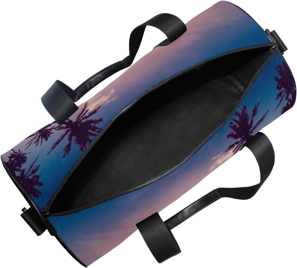 Cooper girl Sunset Coconut Palm Trees Duffels Bag Travel Sport Gym Bag