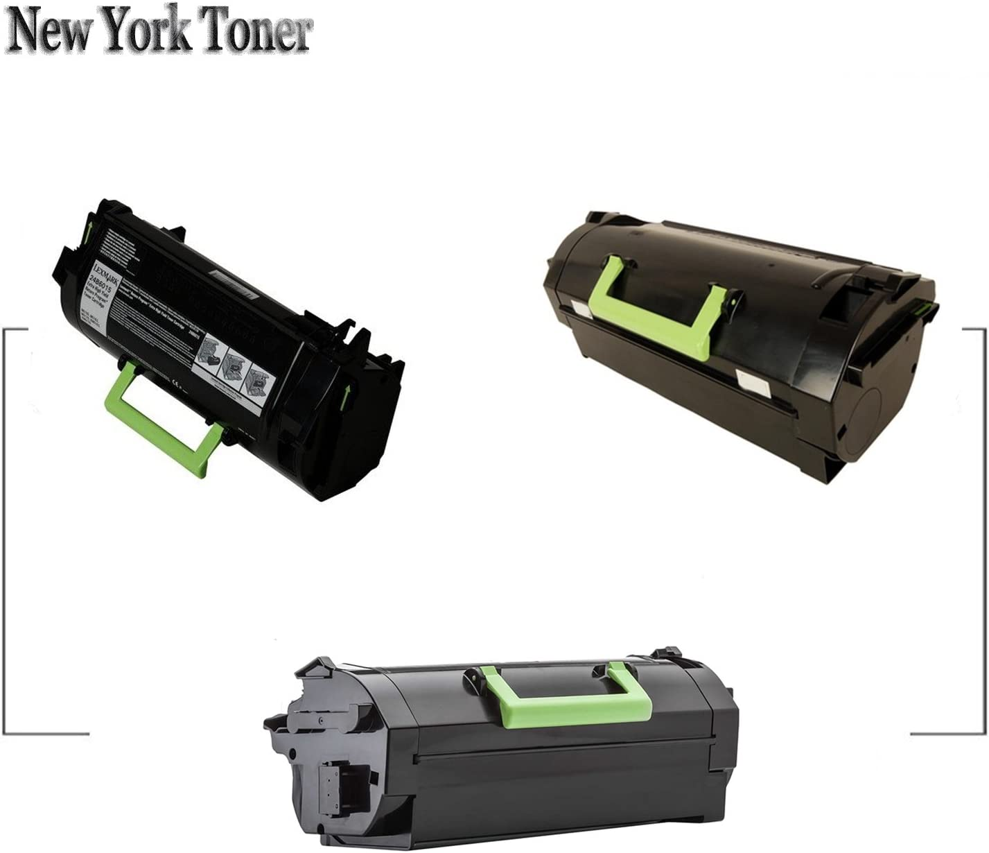 NYT Remanufactured 2 Pack 24B6015 Toner for Lexmark M5155 M5163 Made in USA Black