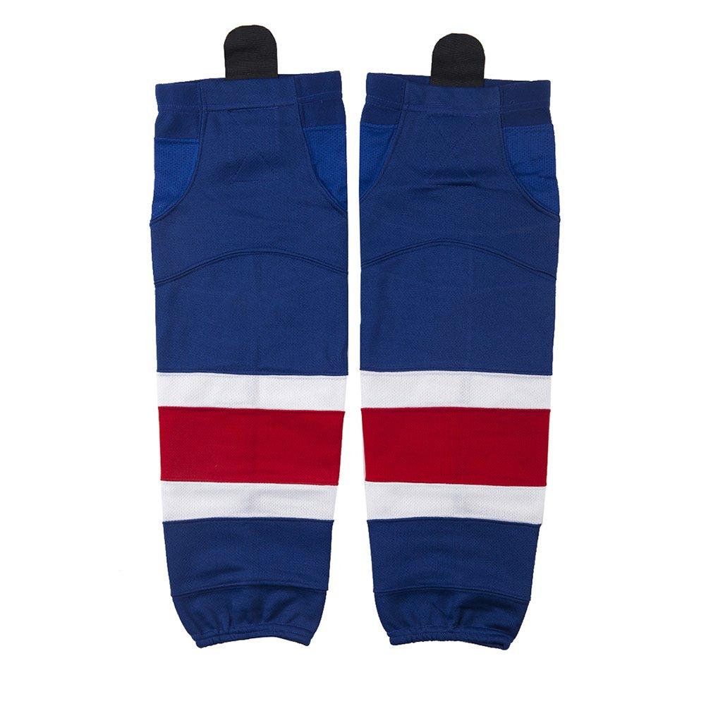 Boy Ice Hockey Socks, COLDINDOOR Youth Junior Dry Fit Hockey Socks Boy Sapphire Blue XS