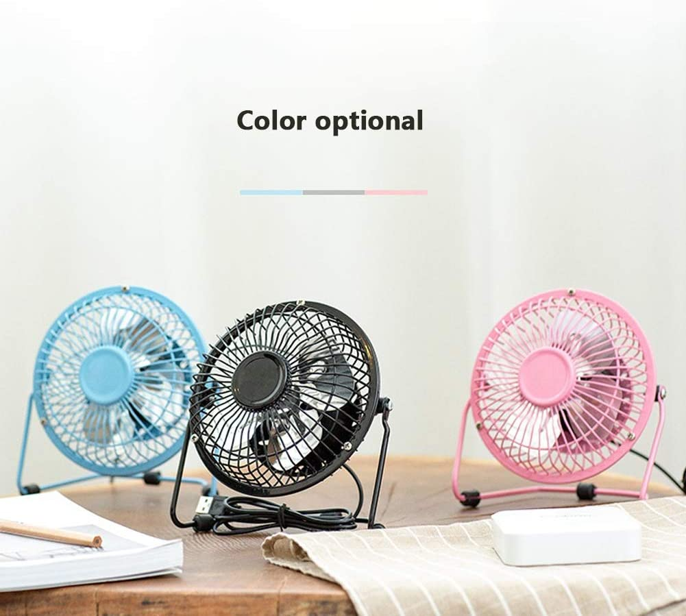Color : Black 7 inch+1.4 m Extension Cord Chihen Small Fan Table Fan Electric Fan Mini Portable Silent 3 Speed 4 inch 7 inch Large Wind Desktop//Office//Family