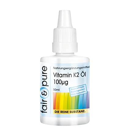 Fair & Pure – Vitamina K2 Aceite 100μg - 50ml - menaquinona MK-7 natural