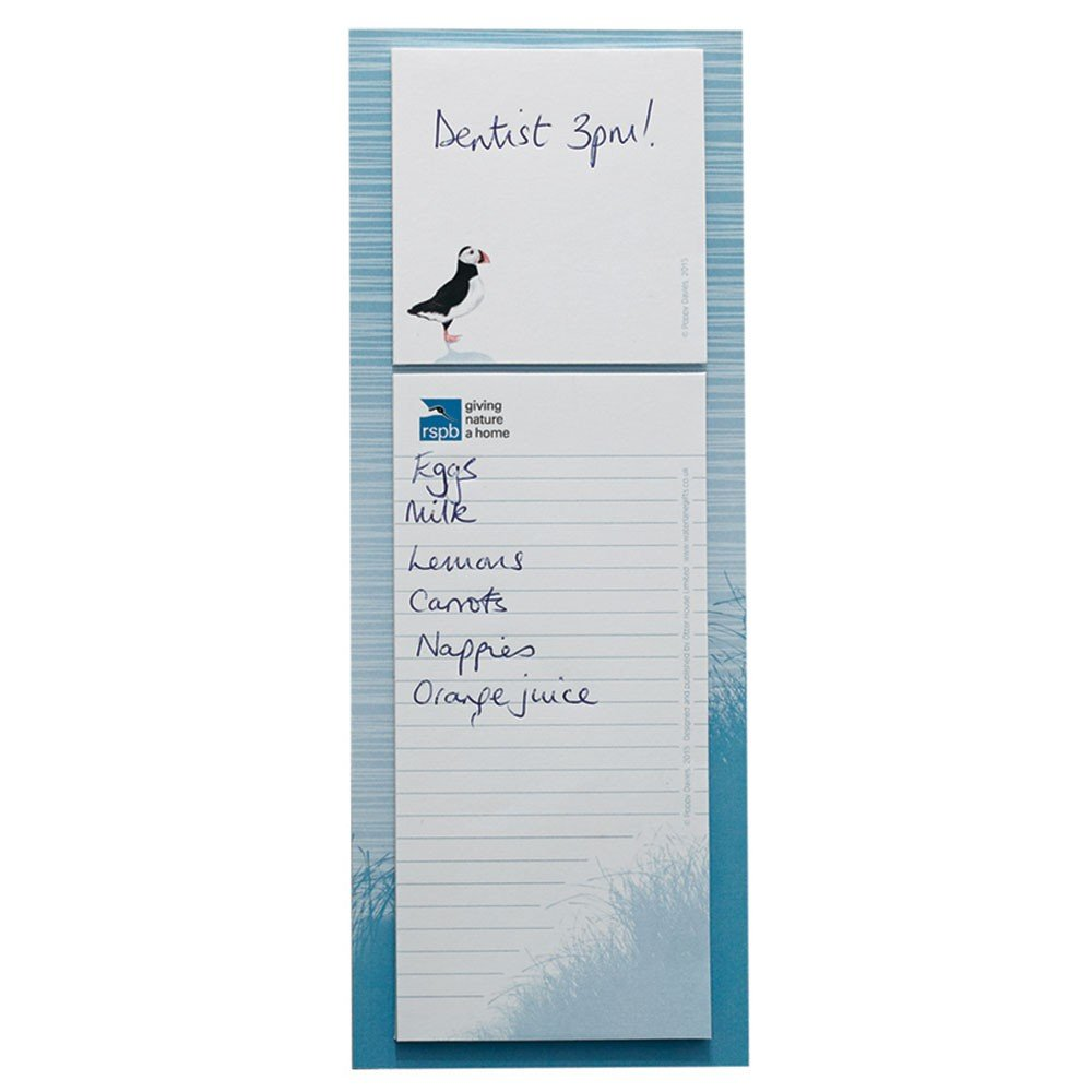 RSPB Magnetic Memo And Sticky Note Pad- Puffin