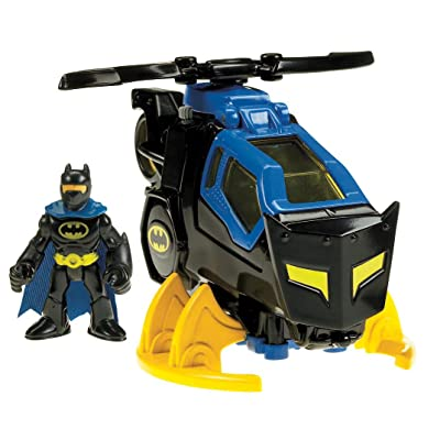 Fisher-Price Imaginext DC Super Friends Feature Helicopter [ Exclusive]: Toys & Games