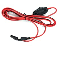 AiELEMZION SAE to SAE Quick Disconnect Extension Cable 2 Pin Connection Cord Plug 250cm 14AWG Gauge for Camp Trailer Solar Panels Battrey