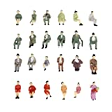 24pcs Painted Model Train Seated People Passangers Figures Scale HO (1 to 87) P87-12