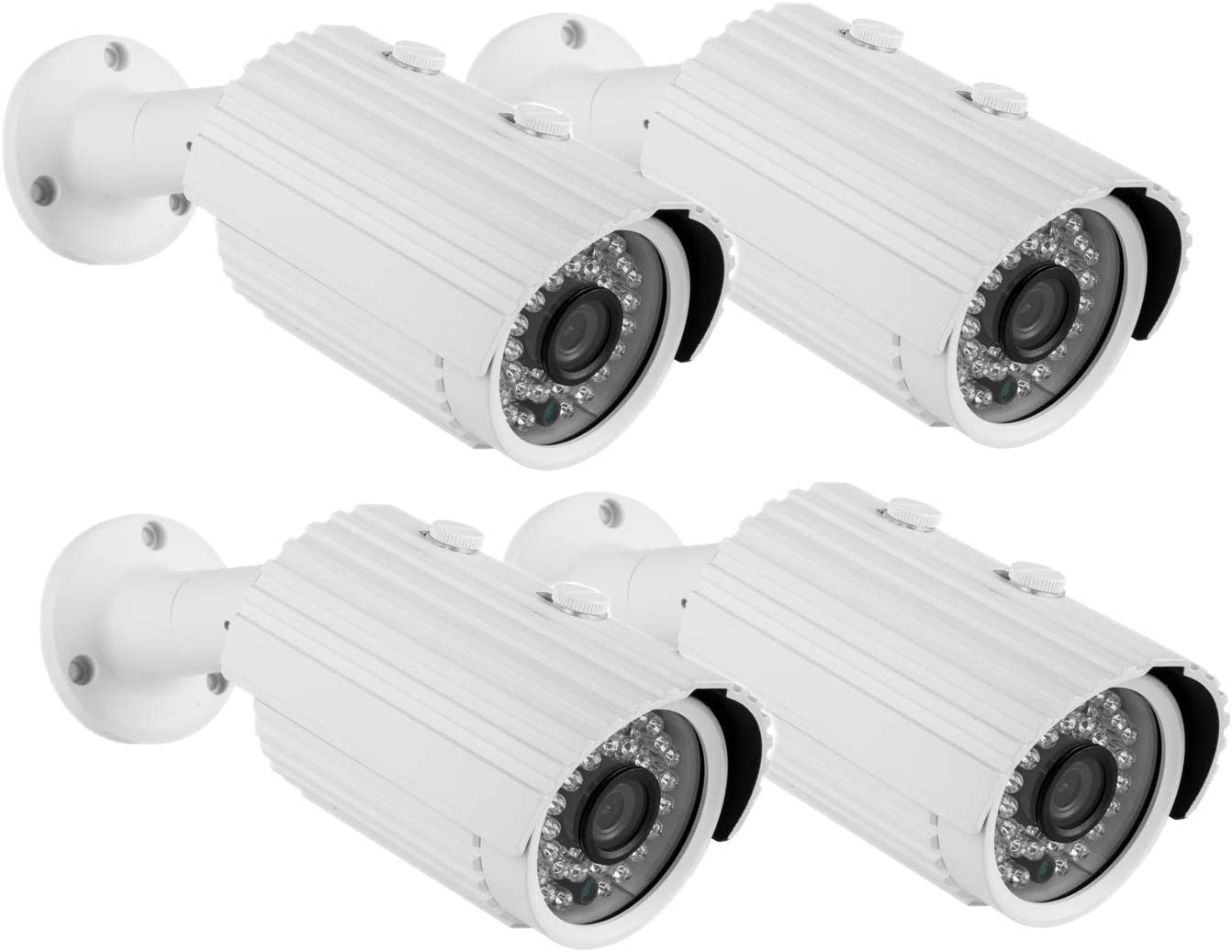Security Camera CANAVIS AHD CCTV Camera 720P 36PCS IR-LEDs 2.8mm Lens with IR Cut Home Security Day Night Waterproof CCTV Camera- 100ft IR Distance,Indoor Outdoor 2.8mm 4pack