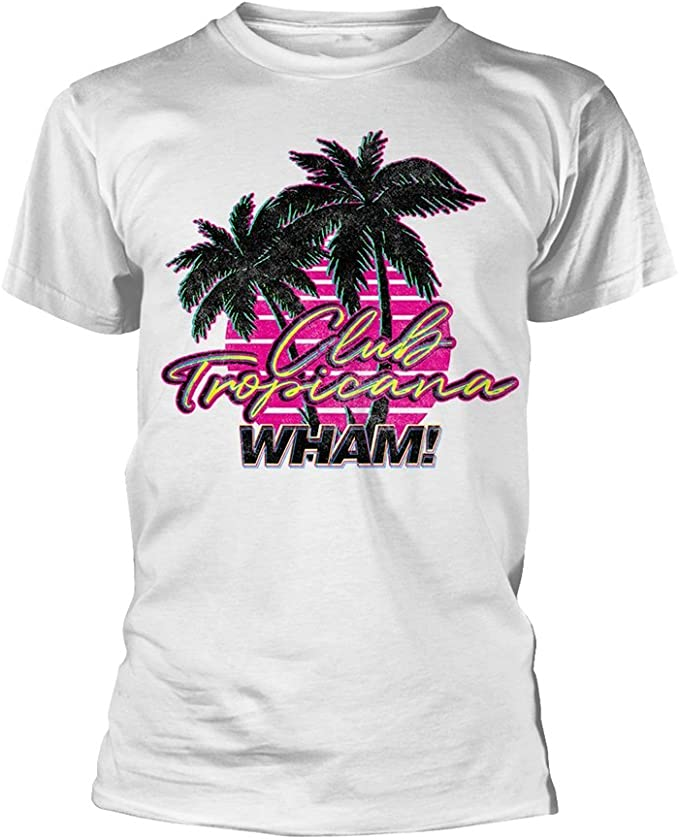 Wham funny T-Shirt Men Ladies CLUB TROPICANA Gearge Micheal