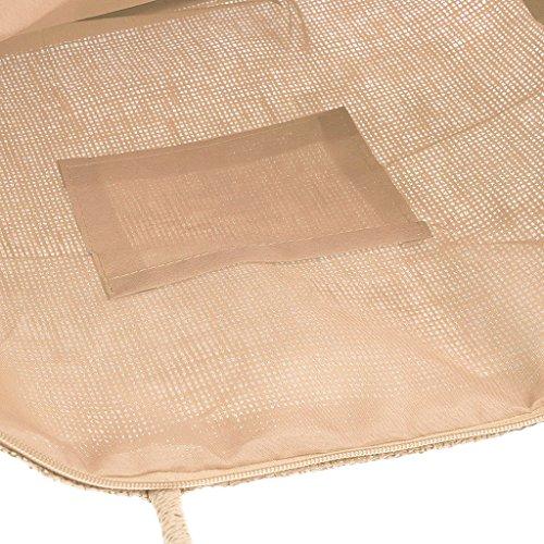 Tissage Plage Artone À Sac Été Beige De Sac Main Nature Blanc 39 La Bag 32cm 11 Fourre Paille Sac À Classique Bandoulière Respectueux De Courses De Sac YnrqxwrE