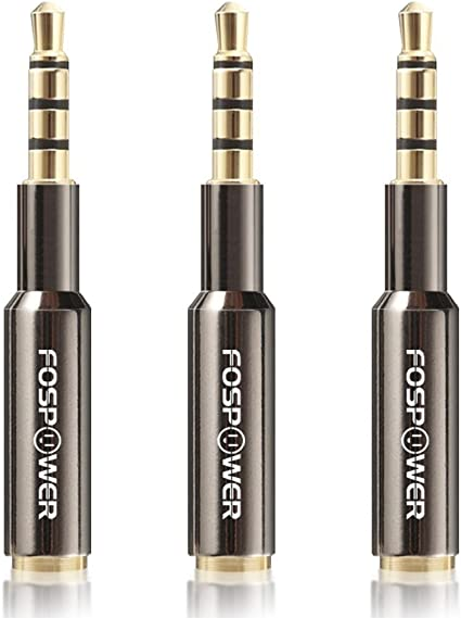 3.5mm 4-Conductor TRRS | Gold Plated FosPower Cable de extensi/ón de Audio 4,5 Metros Male to Female Auxiliary Stereo Jack Cord