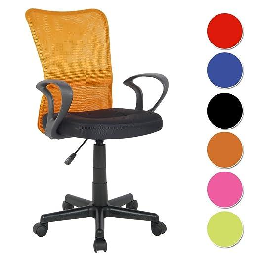 245 opinioni per SixBros. Sedia ufficio sedia girevole arancio/nero- H-298F-2/2113