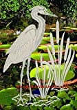 oval window treatments - Egret & Cattails Left Oval Etched Window Decal Vinyl Glass Cling - 15