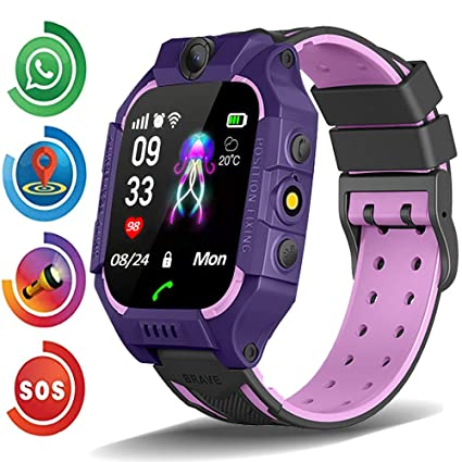 New Kids Smart Watch Phone for Boys Girls Toddler Age 3-12 with GPS Tracker Dial Call SOS Camera Flashlight 1.54 Touch Screen Math Game Alarm Clock ...