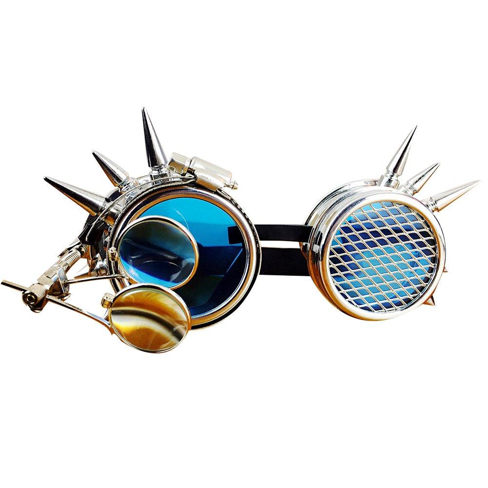 KEHUASHINA Cassic Männer Steampunk Goggles Sonnenbrille Halloween Cosplay Super Retro Männlich Original Brand Designer Steam Punk Sonnenbrille