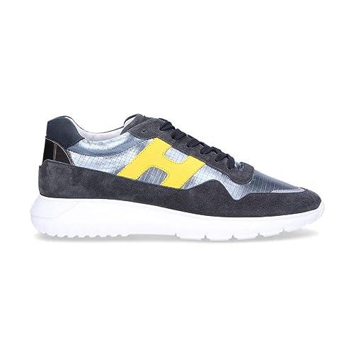 Hogan Hombre HXM3710AJ10KEY589P Gris Cuero Zapatillas: Amazon.es: Zapatos y complementos