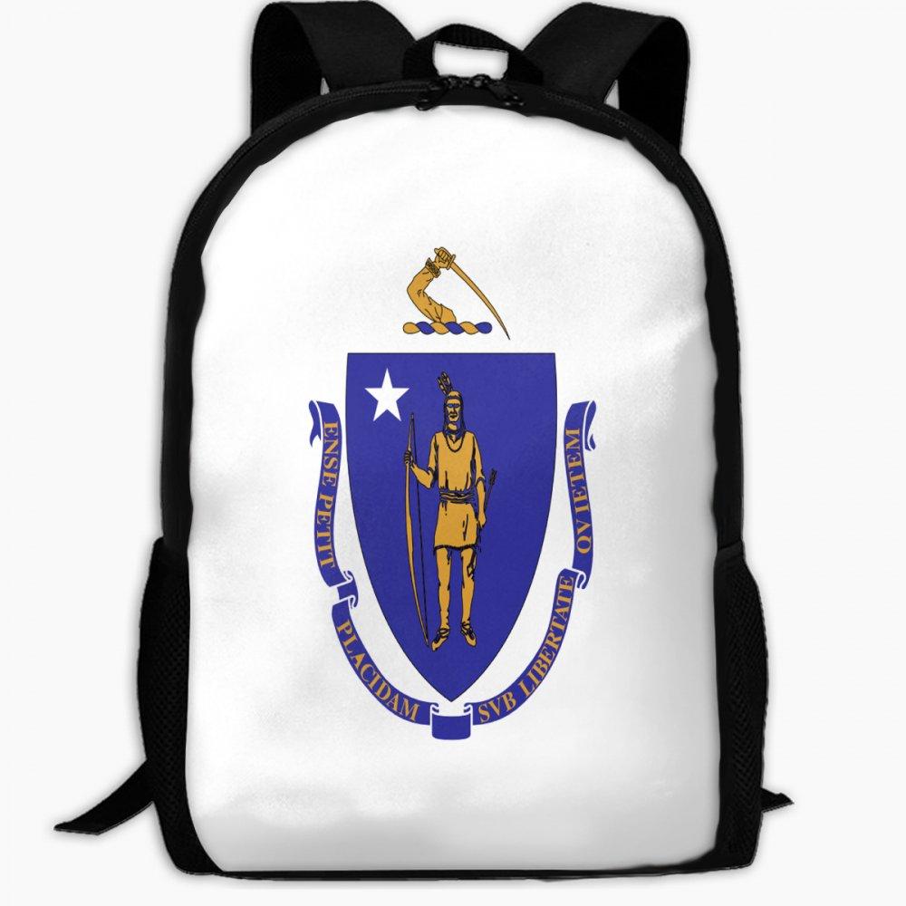 子供の学校バックパックマサチューセッツ州フラグアウトドア旅行バックパック学生バックパックボーイズBook BagsユニセックスショルダーDaypack   B07FVVXLXS
