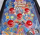 Tabletop Pinball Game, 16.5 Inch Electronic Lights