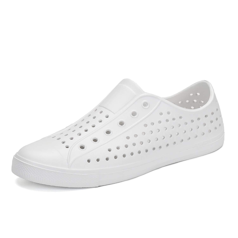 SAGUARO Mens Womens Lightweight Breathable Slip-On Sneaker Garden Clogs Beach River Sandals Water Shoes White 7 M US Women / 6 M US Men