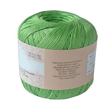 funie Cable de algodón mercerizado hilo bordado de hilo para tejer Crochet encaje joyería, algodón, 06, talla única: Amazon.es: Hogar