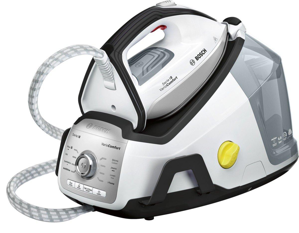 BOSCH TDS8030GB Serie 8 VarioComfort Steam Generator, 2400 W, 6.8 Bar, Black/White BSH Home Appliances