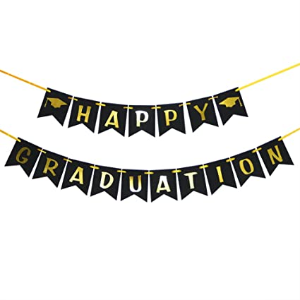 amazon com innoru happy graduation banner class of 2019