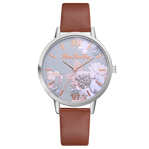 OHQ Relojes De Pulsera AnalóGicos De Cuarzo Causal De Flor Impresos De Silicona Reloj Manera Pulsera Reloj Inteligente Marcar El Reloj Reloj ElectróNico: ...