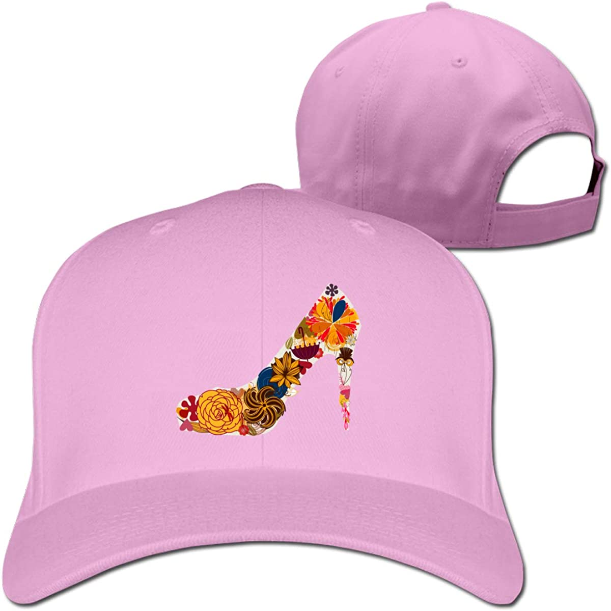 Butterfly High Heel Classic Adjustable Cotton Baseball Caps Trucker Driver Hat Outdoor Cap Fitted Hats Dad Hat Pink