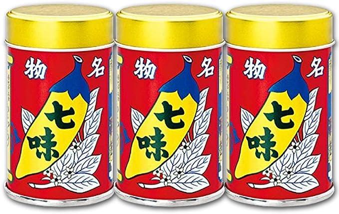 Amazon | 八幡屋礒五郎 七味唐辛子 缶 14g × 3個 | 八幡屋礒五郎 ...