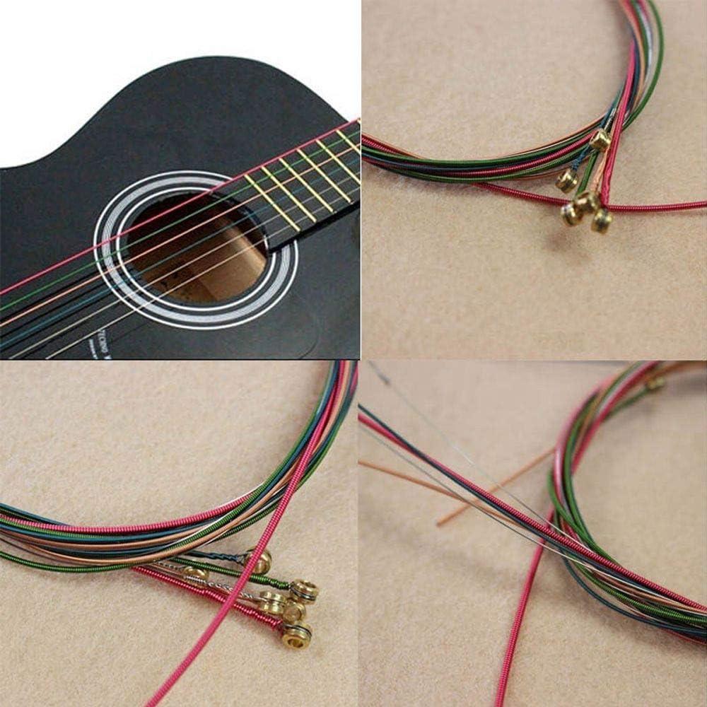 Turbobm 6 Piezas de Cuerdas de Guitarra, Cuerdas de Guitarra acústica, Cuerda de Acero de Repuesto, Cuerdas de Repuesto de Acero Inoxidable para Guitarra eléctrica acústica clásica: Amazon.es: Hogar