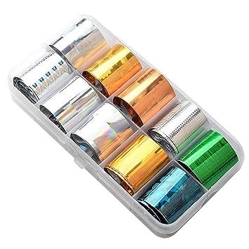 Amazon.com: Pegatinas para uñas de paisaje, 7 colores ...