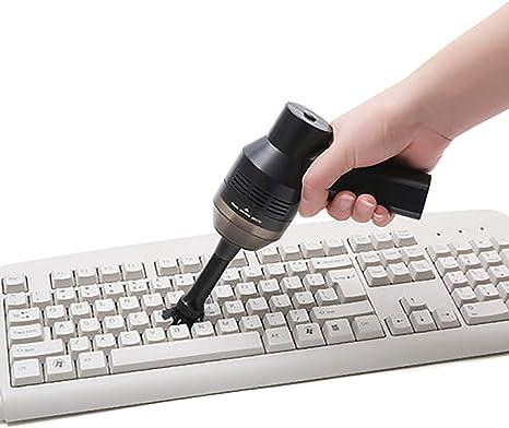 Justdolife Aspirador De Computadora Portátil USB Recargable Creativo Mini Aspirador Limpiador De Teclado: Amazon.es: Hogar