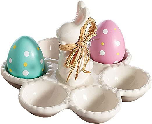 3 x Blue Easter Bunny Shaped Egg Tray Holds 12 Eggs