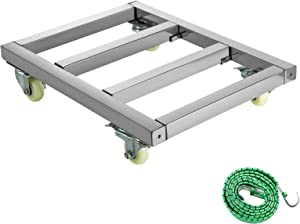 BestEquip Furniture Dolly 1600LBS Capacity Stainless Steel Moving Dolly 18x24 Inch Wheeled Platform Heavy Duty Movers with 4 Swivel Wheels for Furniture Moving Handling Equipment