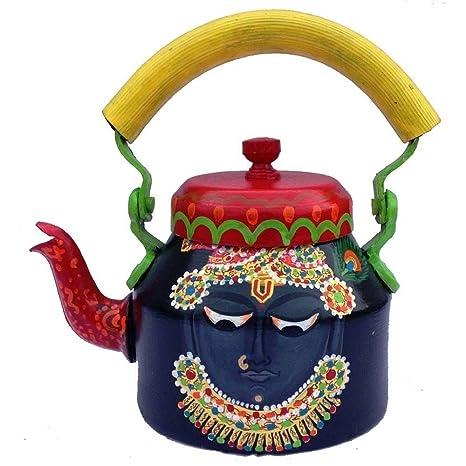 Buy Prastara Handpainted Decorative Tea Kettle Rajasthani Art