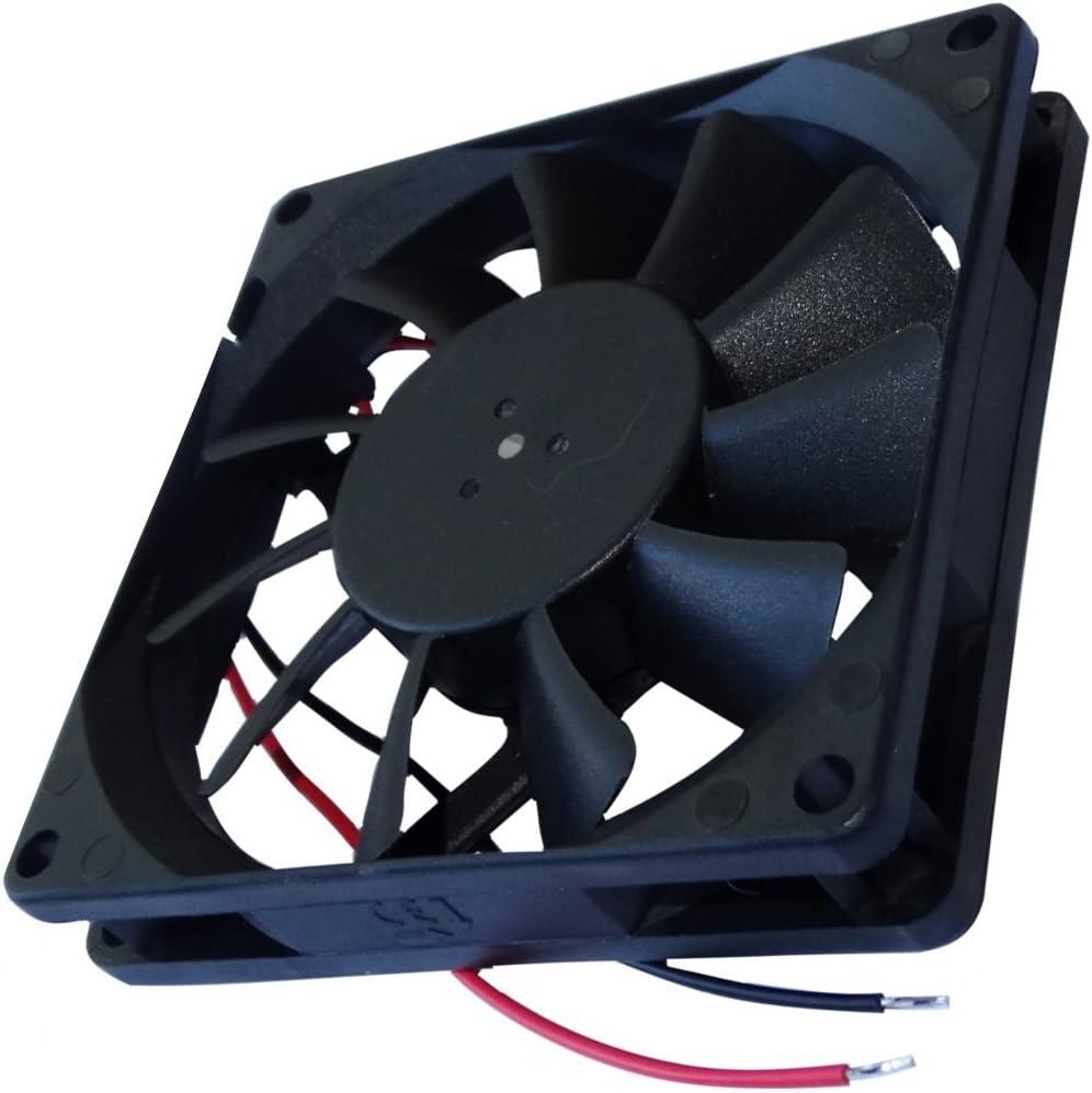 AERZETIX: Ventilador para Caja de Ordenador PC 24V 80x80x15mm 62,86m3/h 34,7dBA 3000rpm 2.21W 0.092A Vapo 2 Cables 24AWG C14596