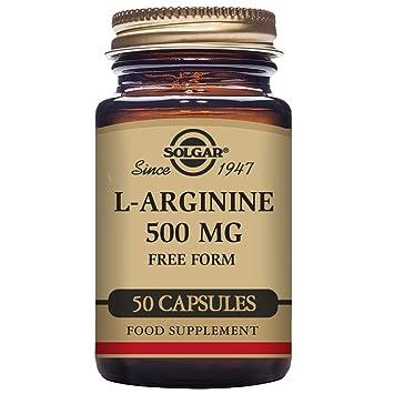 Solgar L-Arginina 500 Mg - 50 Cápsulas: Amazon.es: Salud y cuidado personal
