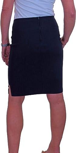 Blue skirt Stretch cotton skirt Princess Cut skirt summer office skirt vacation skirt  above the knee skirt pencil skirt comfortable
