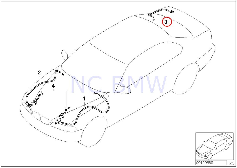 Amazon Com Bmw Genuine Repair Wiring Set Rear Right Automotive