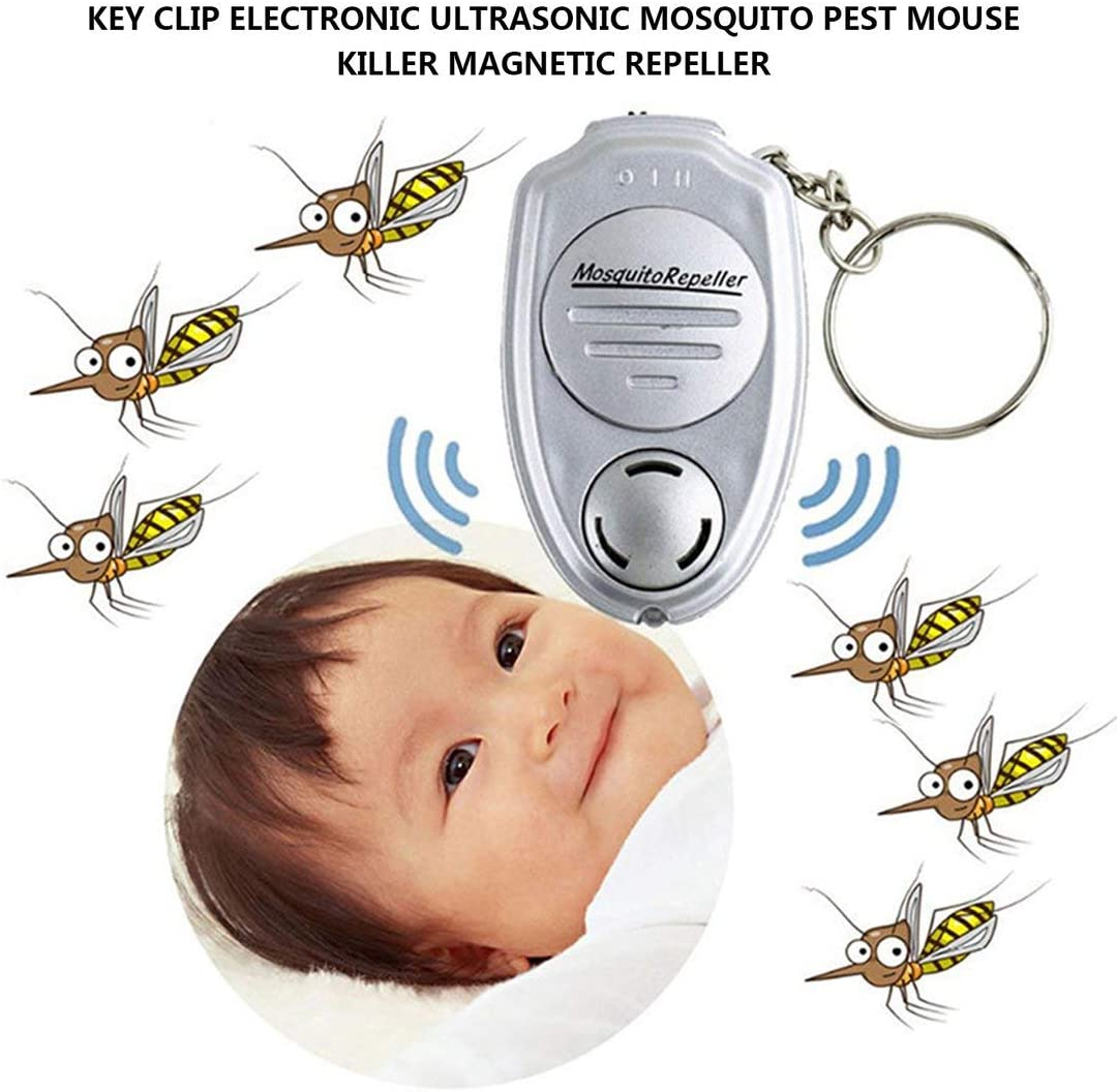 Swiftswan Portable key clip electronic ultrasonic mosquito killer mouse killer electromagnetic insect repellent outdoor mini pest insect repellent