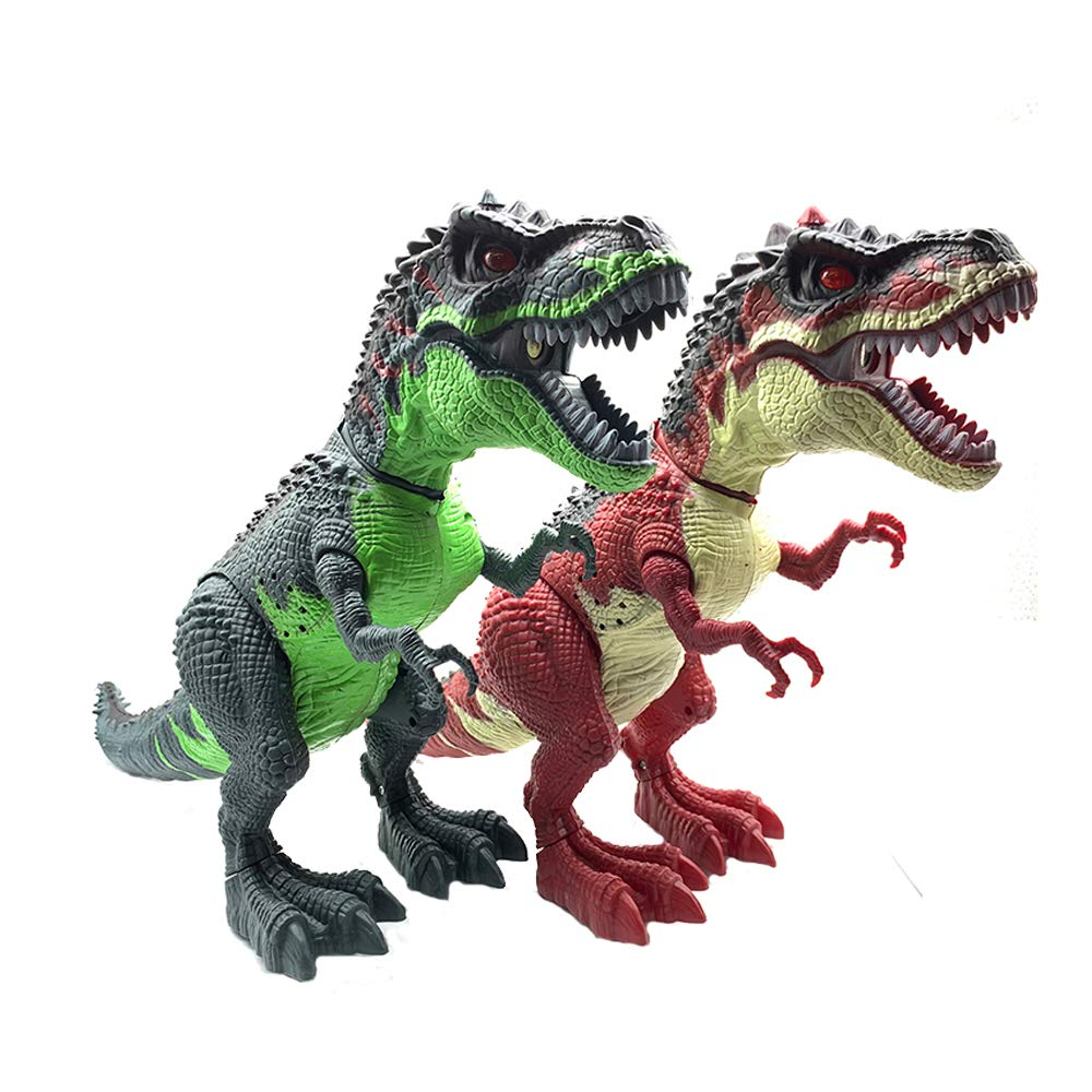 SEOINS T-Rex Walking Dinosaur Toy with Spray Water Mist,Realistic Roar and Ligh,Dinosaur Toy for Kids(Green) by SEOINS (Image #6)